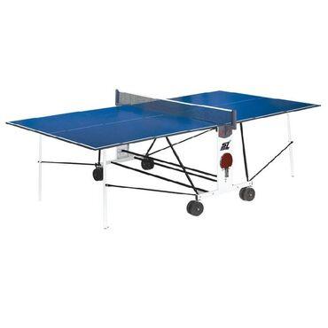 Теннисный стол start line compact light lx с сеткой 6041цвет:синий