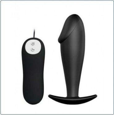 Секс игрушка Анальная вибропробка PL 8Гладкая анальная вибропробка для