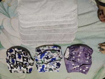 джемпер детский в Кыргызстан: Многоразовые подгузники, памперсы, продаю 3 многоразовых подгузника
