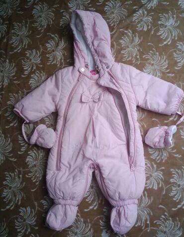 Детская одежда и обувь - Беловодское: Детский комбинезон на девочку. Возраст от 0 до 3 месяцев. В хорошем