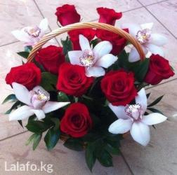 Фруктово-цветочные корзины. Флористы всегда относятся трепетно к в Бишкек