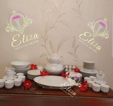 18 nəfərlik yemək və 12 nəfərlik çay dəsti.İstehsal-İran,Zarin