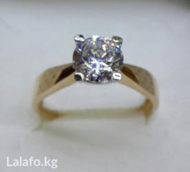Золотое кольцо с цирконом в Бишкек