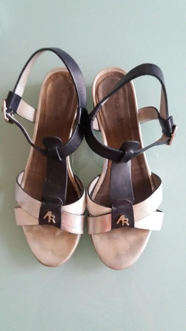 Kozne sandale Antoanella Rossi srebrna bela i crna kombonacija. Stikla - Paracin