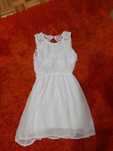 Teksas prsluk - Srbija: Bela letnja haljina i teksas prsluk. Oba za 700 din. Posebno 500din
