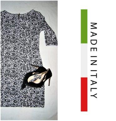 Haljina-please-italy - Srbija: *** CRNO BELA *** Italy MCrno bela haljinica, made in Italy.Kao nova