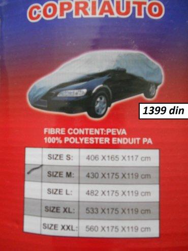 Cerada za auto vise velicina  nova, nekoriscena, u originalnom vakum p - Beograd - slika 2