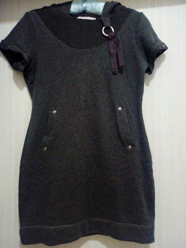 Haljina/tunika sa kapuljačom,sive boje,veličina m. Ima kratke - Obrenovac