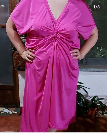 Haljina za punije dame Kukovi 90 cm Duzina 130 cm Cena 3000 din