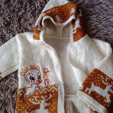 лыжный костюм бишкек цены in Кыргызстан | ВЕРХНЯЯ ОДЕЖДА: Продаю зимний вязаный костюм Б/У. Можно как на девочку, так и на мальч
