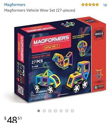 детские игрушки 3 в Кыргызстан: Детский конструкторский набор Magformers. Состояние отличное. Покупали