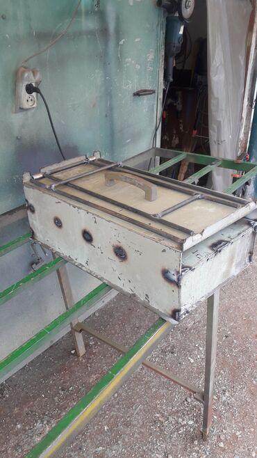 Жаровня барбекю мангал (ножки складываются) переносная. 60×30 см