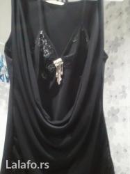 Neobicno krojena crna svecana majica prednji deo ukrasen sjajnim vezom - Novi Sad
