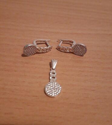 Privezak srebro - Srbija: Mindjuse i privezak od srebra