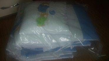 Za decu   Krusevac: Komplet ogradica i posteljina za deciji krevetac. STEP. Ogradice za