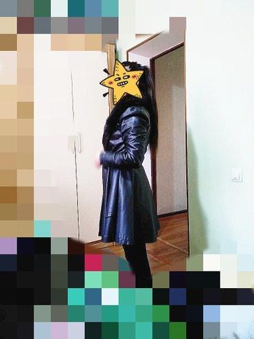 Пальто. кожзам. состояние новое. брали за 5000. отдам за 2500 в Бишкек
