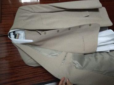 Мужская одежда - Шопоков: Костюм тройка + рубашка белая в подарок! 46 размер. Турция в идеале!