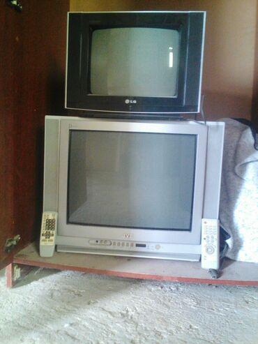 İki Eded televizor satılır qara reng LG 17 ekran metalik jvc 51 ekran