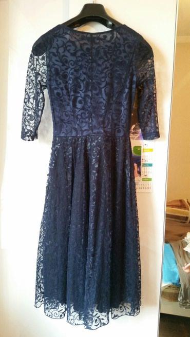 черное платье на свадьбу в Кыргызстан: Вечерняя платье, носили один раз на свадьбу, цвет темно- синийочень