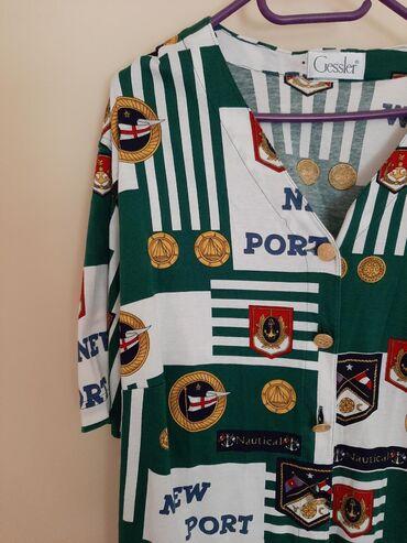 Majica dug - Srbija: Gessler predivna bluza. Vel XL. Mornarski fazon. Zlatna dugmad sa
