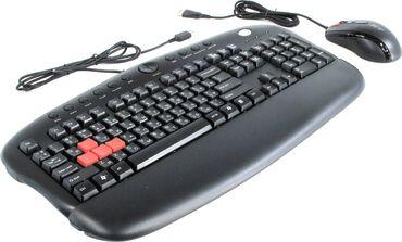 Другие комплектующие в Кыргызстан: Продаю геймерский комплект клавиатура + мышь A4Tech KX-2810BK.Новый