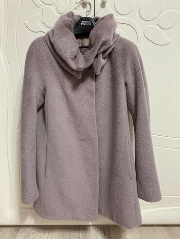 женское пальто в Кыргызстан: Продаю пальто женский. Размер 44-46. Альпак. Цвет пудры