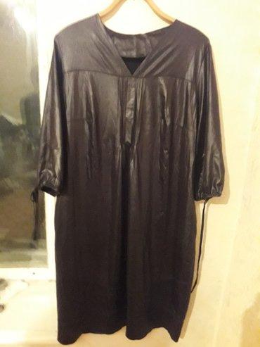 женское платье 54р в Кыргызстан: Платье женское, 54р, ткань черный лак, новое, свободный крой, с