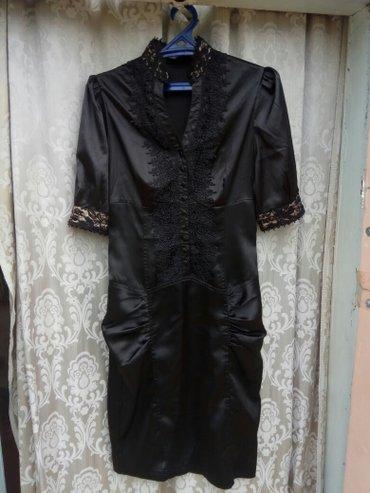 Чёрное женское платье, 42 размер. 700 сом в Шопоков