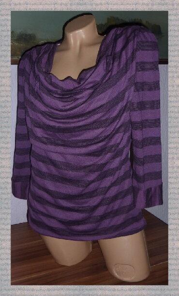 Betty-jackson-black - Srbija: BETTY JACKSON Ljubicasta Majica Na Prugeširina ramena 38cmširina ispod
