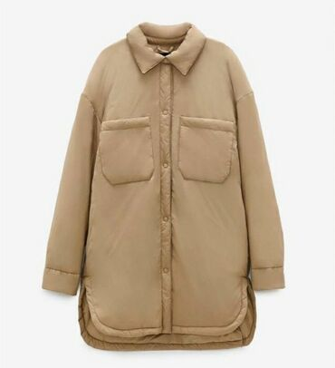 Куртки - Бежевый - Бишкек: Курточка новая с этикеткой Zara original размер л подойдёт на хл или