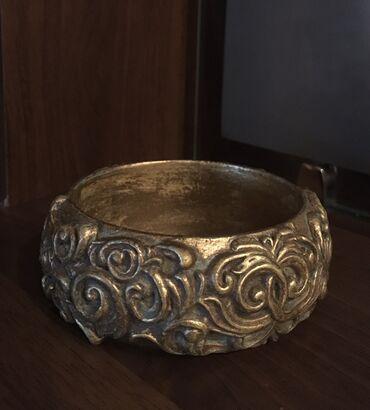 декор бишкек цены в Кыргызстан: Браслет, имитация старого золота с объёмным декором, основа-дерево