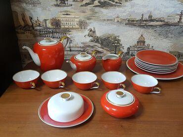 fuzhery-6-sht в Кыргызстан: Сервиз чайный, фарфор, производство ГДР, 60-70года, не хватает одной
