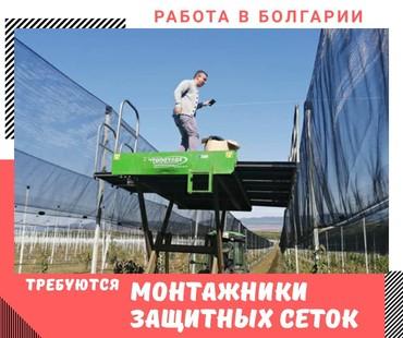 Работа Монтажники защитных сеток (от града) в Болгариизарплата от 400