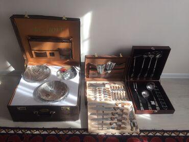 шкаф для посуды в Кыргызстан: Набор кастрюль BergHOFF Набор ножей BACHMAYR Набор поварёшекВсе