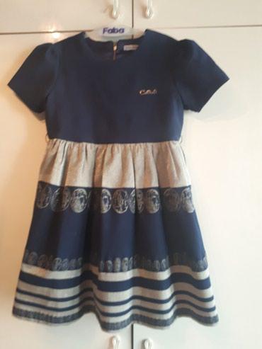 Нарядное синее платье для девочки, размер 152 см, на 6-8 лет в Бишкек