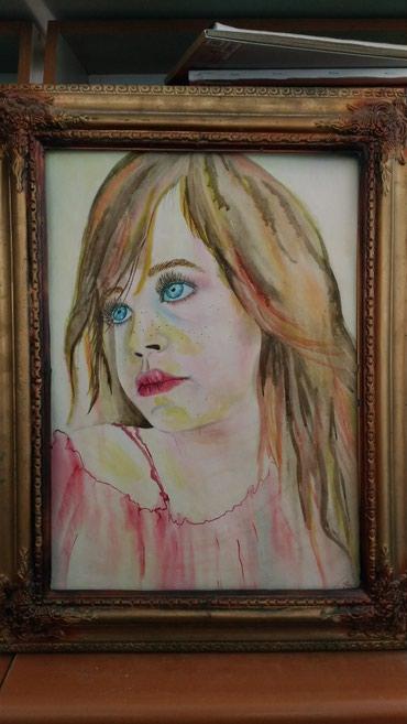 Masallı şəhərində Portret 40x60 Akvarel (sulu boya) — kağız üzərində işlənib