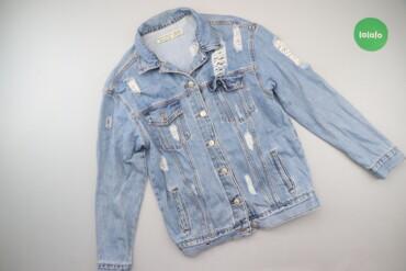 Жіноча джинсова куртка з фабричними потертостями Dilvin, р. XS    Довж