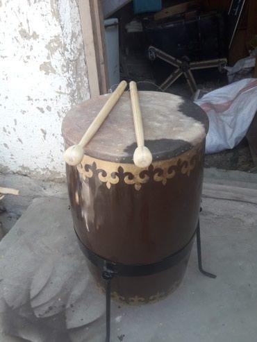 Барабаны в Кыргызстан: Продаю кыргызский ударный инструмент добулбас ( цилиндрический)