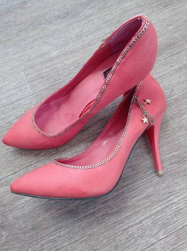 Коралловые туфли со звездочкой. Стильные и удобные. Размер 38