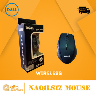 Məhsul: Wifi MouseSürət: 2.4 GhzStatus: YeniQoşulma: Naqilsiz -