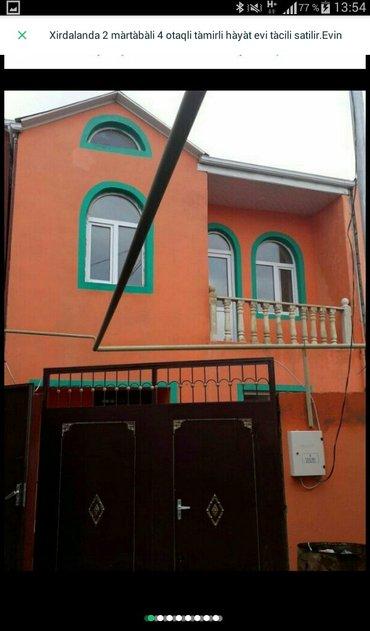 Xırdalan şəhərində Xirdalanin  2 màrtàbàli 4 otaqli tàmirli hàyàt evi tàcili satilir. Evi
