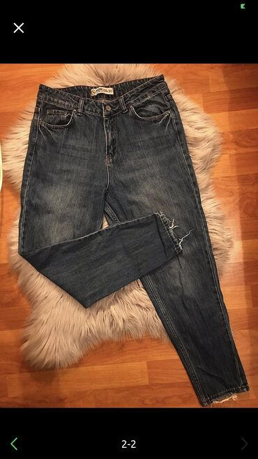 Mom jeans super veziyyetde 7 azn son 31 razmer