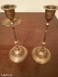 Prodaju se dva mesingovana svecnjaka - Crvenka