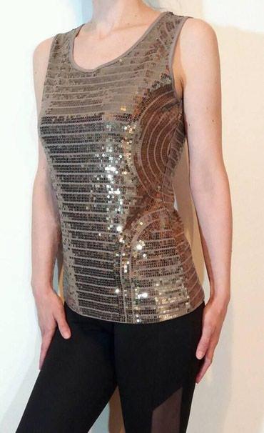 Glamurozna bluza sampanj/zlatne boje,velicina M,bez - Beograd