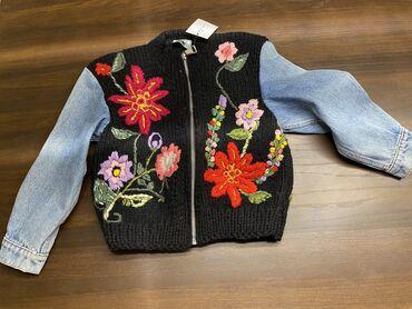 Sako strukiran - Srbija: NOVA SA ETIKETOM jaknica Klara line, rucni rad od prave vune i replay