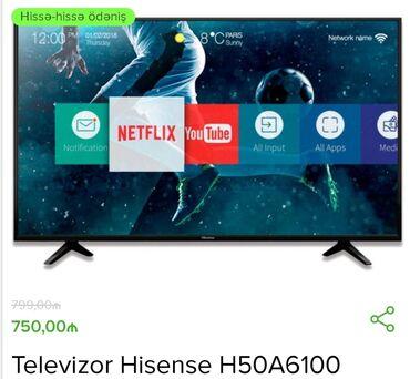 smart tv - Azərbaycan: Almaniya Brendi Hisense Smart Tv 50 ekran10 %endirimle Cemi 675