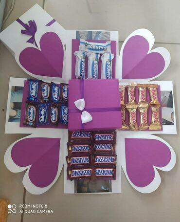Şekilli ve şokoladli qutuSifaris 3-4gun onceden hazirlanirSifaris ucun