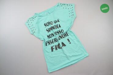 Жіноча футболка з принтом, р. М   Довжина: 64 см Напівобхват грудей: 4