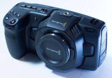 blackmagic production camera 4k в Кыргызстан: Сдаю в аренду Blackmagic Pocket 4K + обьективы и комплект 5000 сом сме