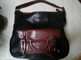 Kozna crno braon torba - Crvenka